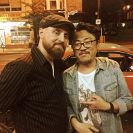 With Makoto after their set in Toronto.