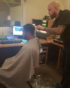 That time Valiant Emcee gave Mr. Brown a haircut while on the air at The Prophecy FM.